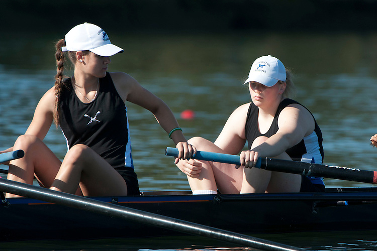 May 12, 2012; Gold River, CA, USA; Creighton Bluejays I Four during the WCC Rowing Championships at Lake Natoma.