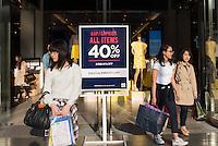 American high street fashion, Gap shop  in Shinjuku, Tokyo, Japan