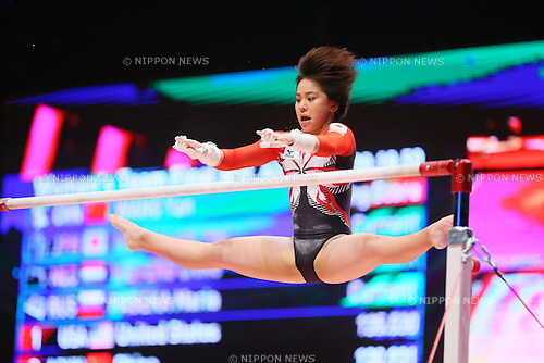 Mai Murakami (JPN), <br /> OCTOBER 27, 2015 - Artistic Gymnastics : <br /> 2015 World Artistic Gymnastics Championships <br /> Women's Team Final <br /> Uneven Bars <br /> at The SSE Hydro Arena, Glasgow, Great Britain. <br /> (Photo by YUTAKA/AFLO SPORT)