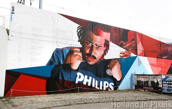 Nederland  Eindhoven 2017 .  Graffiti op Strijp-S.  Foto Berlinda van Dam / Hollandse Hoogte