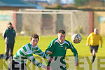 Kingdom Boys Darren O'Brien and Kilmallock's Stephen O'Riordean.