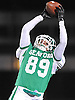 Luke Farrant #89 of Seaford catches a pass for a first down on a faked punt play during the Nassau County varsity football Conference IV semifinals against Locust Valley at Hofstra University on Saturday, Nov. 12, 2016. Seaford won by a score of 28-14.