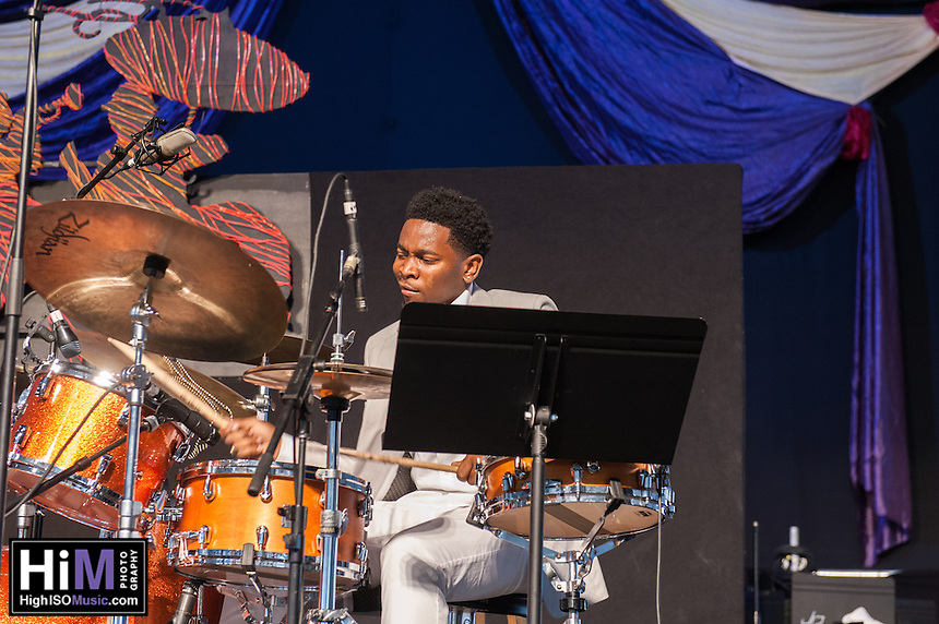 The Lonnie Smith Trio performs at the 2014 Jazz and Heritage Festival in New Orleans, LA.