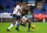 Bolton Wanderers' Sammy Ameobi chasing down Reading's Andy Yiadom  <br /> <br /> Photographer Andrew Kearns/CameraSport<br /> <br /> The EFL Sky Bet Championship - Bolton Wanderers v Reading - Tuesday 29th January 2019 - University of Bolton Stadium - Bolton<br /> <br /> World Copyright © 2019 CameraSport. All rights reserved. 43 Linden Ave. Countesthorpe. Leicester. England. LE8 5PG - Tel: +44 (0) 116 277 4147 - admin@camerasport.com - www.camerasport.com