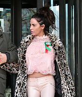 Katie Price, Loose Women panellist, gives evidence in Parliament at Parliamentary Select Committee meeting on how online abuse has affected her family, after an online petition she started gained over 200k public signatures, at House of Commons, London on February 06, 2018.<br /> CAP/JOR<br /> &copy;JOR/Capital Pictures