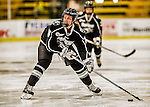 13 November 2015: Providence College Friar Forward Emily Landry, a Freshman from Orangeville, Ontario, in action against the University of Vermont Catamounts at Gutterson Fieldhouse in Burlington, Vermont. The Lady Friars defeated the Lady Cats 4-1 in Hockey East play. Mandatory Credit: Ed Wolfstein Photo *** RAW (NEF) Image File Available ***