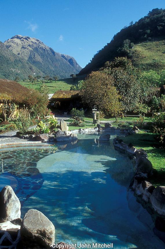 Thermal springs in Papallacta, Ecuador.
