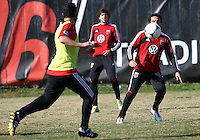 WASHINGTON, DC - NOVEMBER 14, 2012: Dwayne DeRosario (7) of DC United during a practice session before the second leg of the Eastern Conference Championship at DC United practice field, in Washington, DC on November 14.