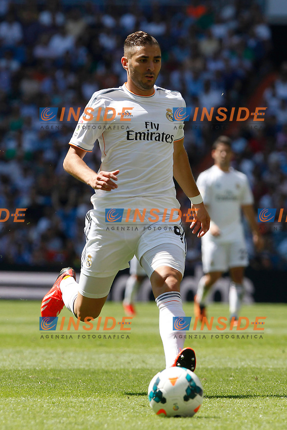 Real Madrid's Benzema during La Liga Match. September 01, 2013. (ALTERPHOTOS/Caro Marin) <br /> Football Calcio 2013/2014<br /> La Liga Spagna<br /> Foto Alterphotos / Insidefoto <br /> ITALY ONLY