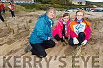 Scout groups are planting maram grass at Inch Beach. Pictured Firies Scouts  l-r Liz O'Donnell, Scout leader, Ciara Shanahan and Michaela O'Mara