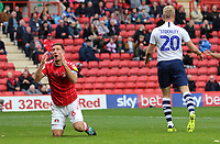penalty given Jason Pearce of Charlton Athletic reaction and Jayden Stockley of Preston North End reaction during Charlton Athletic vs Preston North End, Sky Bet EFL Championship Football at The Valley on 3rd November 2019