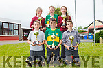 Pupils from Duagh NS who for the first time ever won both the boys and girls county and Munster championships. From front l-r were: Grace Morris, Megan Sheehy and Lucy Hogan. Back l-r were: Cormac Dillon, Jack O'Keeffe and Jack Moloney.