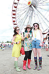 Alison, Maeve and Ruth from Kilkenny on Day 2 of the Oxegen Festival, Punchestown, Co.Kildare...(Photo credit should read Jenny Matthews www.newsfile.ie)....This Picture has been sent you under the conditions enclosed by:.Newsfile Ltd..The Studio,.Millmount Abbey,.Drogheda,.Co Meath..Ireland..Tel: +353(0)41-9871240.Fax: +353(0)41-9871260.GSM: +353(0)86-2500958.email: pictures@newsfile.ie.www.newsfile.ie.