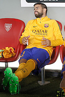 FC Barcelona's Gerard Pique during Supercup of Spain 1st match.August 14,2015. (ALTERPHOTOS/Acero)
