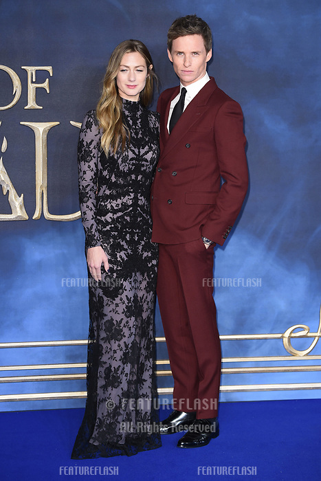 "LONDON, UK. November 13, 2018: Eddie Redmayne & Hannah Bagshawe at the ""Fantastic Beasts: The Crimes of Grindelwald"" premiere, Leicester Square, London.<br /> Picture: Steve Vas/Featureflash"