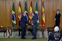 BRASÍLIA, DF, 24.04.2017 – TEMER-DF – O ministro de Relações exteriores, Aloysio Nunes durante visita do Presidente de Governo da Espanha, Mariano Rajoy no Palácio do Planalto em Brasíia, nesta segunda-feira, 24.  (Foto: Ricardo Botelho/Brazil Photo Press)