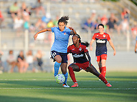 Boyds, MD - Saturday June 25, 2016: Raquel Rodriguez, Crystal Dunn during a United States National Women's Soccer League (NWSL) match between the Washington Spirit and Sky Blue FC at Maureen Hendricks Field, Maryland SoccerPlex.