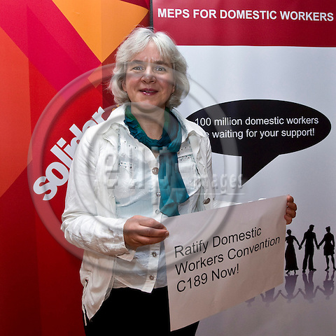 BRUSSELS - BELGIUM - 05 OCTOBER 2011 -- Solidar event at the EU- Parliament -- MEPs for Domestic Workers Convention. -- MEP Elisabeth SCHROEDTER --  PHOTO: Juha ROININEN /  EUP-IMAGES