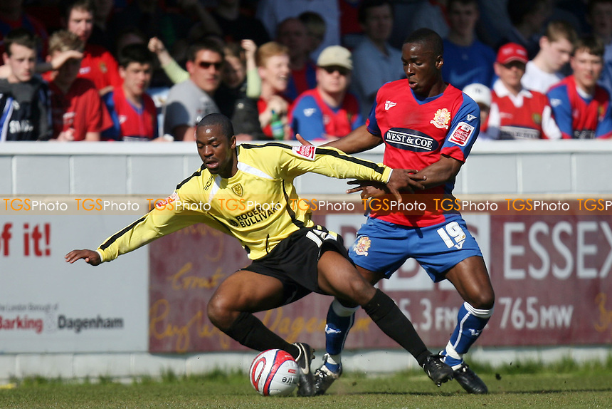 Abu Ogogo of Dagenham and Jacques Maghoma of Burton Albion - Dagenham & Redbridge vs Burton Albion 17/04/2010 - MANDATORY CREDIT: Dave Simpson/TGSPHOTO - Self billing applies where appropriate - 0845 094 6026 - contact@tgsphoto.co.uk -NO UNPAID USE