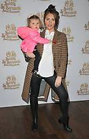 Amy Childs and her kid at the &quot;Elf Pets: Santa's St. Bernard's Save Christmas&quot; VIP screening, Picturehouse Central, Corner of Shaftesbury Avenue, London, England, UK, on Sunday 04 November 2018.<br /> CAP/CAN<br /> &copy;CAN/Capital Pictures