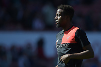Liverpool's Divock Origi during the pre-match warm-up <br /> <br /> Photographer Terry Donnelly/CameraSport<br /> <br /> The Premier League - Stoke City v Liverpool - Saturday 8th April 2017 - bet365 Stadium - Stoke-on-Trent<br /> <br /> World Copyright &copy; 2017 CameraSport. All rights reserved. 43 Linden Ave. Countesthorpe. Leicester. England. LE8 5PG - Tel: +44 (0) 116 277 4147 - admin@camerasport.com - www.camerasport.com