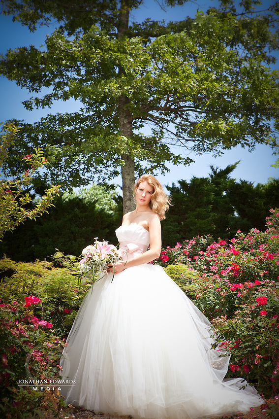 Jennie's Bridal Session on her Wedding Day at Chateau Morrisette Winery in the Blue Ridge Mountains of Virginia