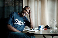 Johnnie Lindsey (cq), the 19th exoneree in Dallas Country at his home in Dallas, Texas, February 25, 2011. Lindsey was wrongly convicted of aggravated rape in 1981 and served 26 years in prison before being exonerated and being released from prison on September 19, 2008 when he was 56 years old.<br /> <br /> Photo by Matt Nager