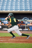 Troy Montgomery #8 of Mt. Vernon High School in Cumberland, Indiana playing for the Oakland Athletics scout team during the East Coast Pro Showcase at Alliance Bank Stadium on August 1, 2012 in Syracuse, New York.  (Mike Janes/Four Seam Images)