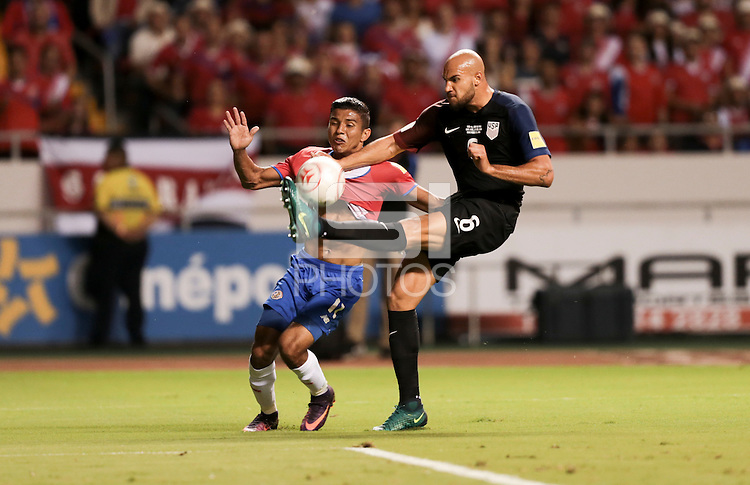 San Jose, Costa Rica - November 15, 2016: The U.S. Men's National team go down 0-2 to Costa Rica during Hexagonal round action in a World Cup Qualifying match at Estadio Nacional de Costa Rica.