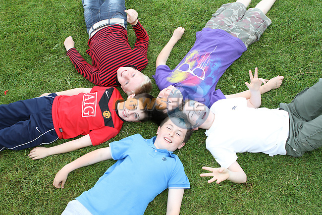 Cathal McHugh, Darragh Brodigan, Hugh McEnteggart, Sean McMahon and Patrick McCabe at the Greenhills Summer Camp...(Photo credit should read Jenny Matthews www.newsfile.ie)....This Picture has been sent you under the conditions enclosed by:.Newsfile Ltd..The Studio,.Millmount Abbey,.Drogheda,.Co Meath..Ireland..Tel: +353(0)41-9871240.Fax: +353(0)41-9871260.GSM: +353(0)86-2500958.email: pictures@newsfile.ie.www.newsfile.ie.