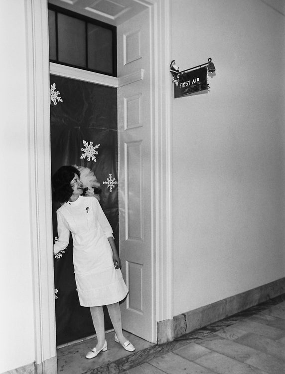 Christmas decoration at the First Aid Room around Christmas. (Photo by Dev O'Neill/CQ Roll Call via Getty Images)