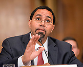 "United States Secretary of Education Dr. John King testifies before the US Senate Committee on Health, Education, Labor & Pensions hearing on ""ESSA Implementation: Update from the U.S. Secretary of Education on Proposed Regulations"" on Capitol Hill in Washington, DC on Wednesday, June 29, 2016.<br /> Credit: Ron Sachs / CNP"