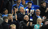 Huddersfield Town fans applauds the players at the final whistle <br /> <br /> Photographer Ian Cook/CameraSport<br /> <br /> The EFL Sky Bet Championship - Cardiff City v Huddersfield Town - Wednesday August 21st 2019 - Cardiff City Stadium - Cardiff<br /> <br /> World Copyright © 2019 CameraSport. All rights reserved. 43 Linden Ave. Countesthorpe. Leicester. England. LE8 5PG - Tel: +44 (0) 116 277 4147 - admin@camerasport.com - www.camerasport.com