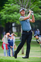 Matt Griffin (AUS) watches his tee shot on 7 during round 2 of the World Golf Championships, Mexico, Club De Golf Chapultepec, Mexico City, Mexico. 3/3/2017.<br /> Picture: Golffile | Ken Murray<br /> <br /> <br /> All photo usage must carry mandatory copyright credit (&copy; Golffile | Ken Murray)