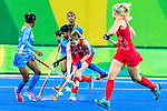 1India vs Great Britain in a Pool B game at the Rio 2016 Olympics at the Olympic Hockey Centre in Rio de Janeiro, Brazil.