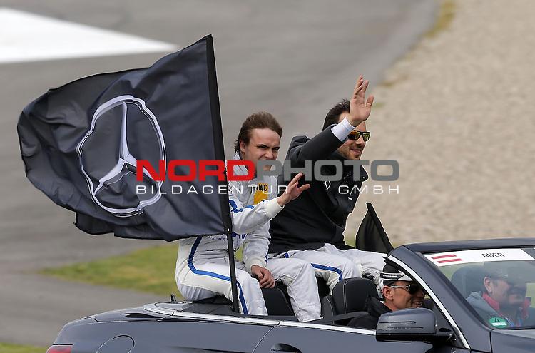 DTM 2015, 01.Lauf Hockenheimring, 01.05. - 03.05.15 <br /> Lucas Auer (DEU#22) Euronics/BWT Mercedes-AMG C-Coup&eacute;, Paul Di Resta (GBR#3) Silberpfeil Energy Mercedes-AMG C-Coup&eacute; <br /> <br /> <br /> <br /> Foto &copy; nordphoto /  Bratic