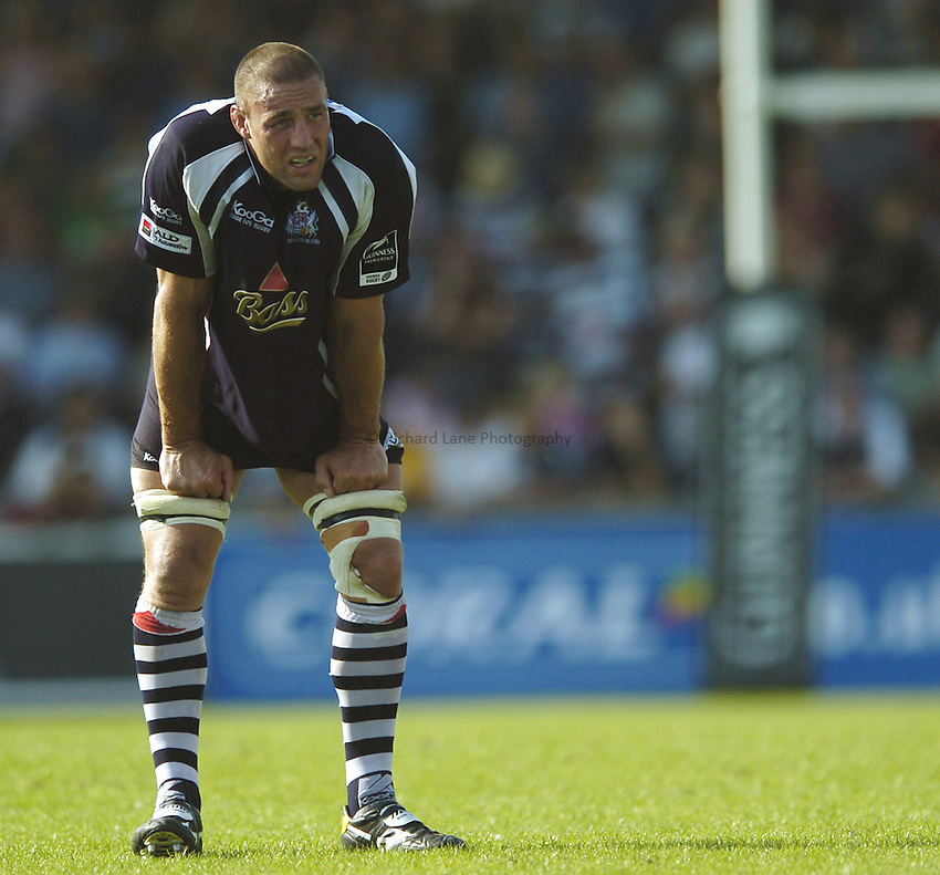 Photo: Jonathan Butler..Bristol Rugby v Saracens. Guinness Premiership. 10/09/2006..Roy Winters of Bristol.