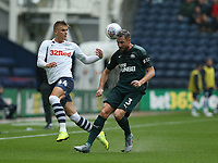 Newcastle United's Paul Dummett blocks this cross by Preston North End's Brad Potts <br /> <br /> Photographer Stephen White/CameraSport<br /> <br /> Football Pre-Season Friendly - Preston North End v Newcastle United - Saturday July 27th 2019 - Deepdale Stadium - Preston<br /> <br /> World Copyright © 2019 CameraSport. All rights reserved. 43 Linden Ave. Countesthorpe. Leicester. England. LE8 5PG - Tel: +44 (0) 116 277 4147 - admin@camerasport.com - www.camerasport.com