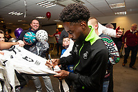 Pictured: Nathan Dyer of Swansea City during the Swansea City Christmas part at the Liberty Stadium in Swansea, Wales, UK. Thursday 05 December 2019