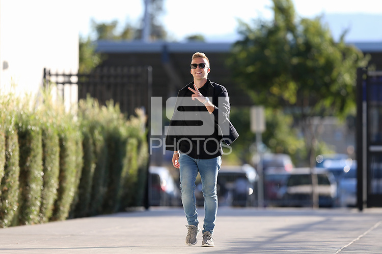 San Jose, CA - Saturday October 06, 2018: Tommy Thompson prior to a Major League Soccer (MLS) match between the San Jose Earthquakes and the New York Red Bulls at Avaya Stadium.