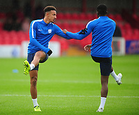 Preston North End's Callum Robinson during the pre-match warm-up <br /> <br /> Photographer Kevin Barnes/CameraSport<br /> <br /> The Carabao Cup - Accrington Stanley v Preston North End - Tuesday 8th August 2017 - Crown Ground - Accrington<br />  <br /> World Copyright &copy; 2017 CameraSport. All rights reserved. 43 Linden Ave. Countesthorpe. Leicester. England. LE8 5PG - Tel: +44 (0) 116 277 4147 - admin@camerasport.com - www.camerasport.com