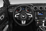 Car pictures of steering wheel view of a 2016 Ford Mustang V6 2 Door Convertible Steering Wheel