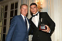 Pat McCormack (R) receives the Amateur Boxer of the Year award from Frank Warren during the Boxing Writers Club Annual Dinner at the Savoy Hotel on 7th October 2019