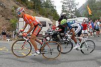 Igor Anton and Benat Intxausti during the stage of La Vuelta 2012 between Lleida-Lerida and Collado de la Gallina (Andorra).August 25,2012. (ALTERPHOTOS/Paola Otero) /NortePhoto.com<br /> <br /> **CREDITO*OBLIGATORIO** <br /> *No*Venta*A*Terceros*<br /> *No*Sale*So*third*<br /> *** No*Se*Permite*Hacer*Archivo**<br /> *No*Sale*So*third*