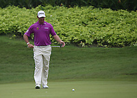 Birdie putt for Lee Westwood (ENG) on the 4th during the Final Round of the 2014 Maybank Malaysian Open at the Kuala Lumpur Golf & Country Club, Kuala Lumpur, Malaysia. Picture:  David Lloyd / www.golffile.ie