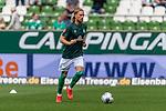 01.09.2019, wohninvest WESERSTADION, Bremen, GER, 1.FBL, Werder Bremen vs FC Augsburg<br /> <br /> DFL REGULATIONS PROHIBIT ANY USE OF PHOTOGRAPHS AS IMAGE SEQUENCES AND/OR QUASI-VIDEO.<br /> <br /> im Bild / picture shows<br /> Michael Lang (Neuzugang Werder Bremen #04) beim Aufwärmen, <br /> <br /> Foto © nordphoto / Ewert
