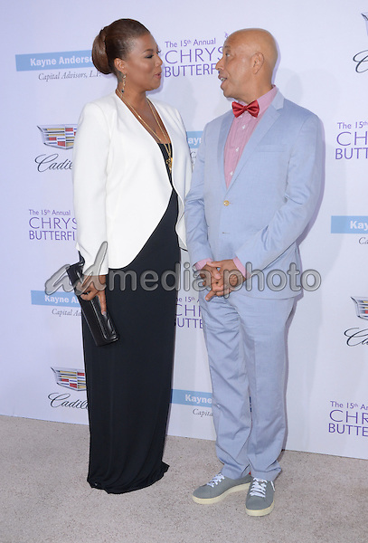 11 June 2016 - Los Angeles. Queen Latifah, Dana Owens, Russell Simmons. Arrivals for the 15th Annual Chrysalis Butterfly Ball held at a Private Mandeville Canyon Residence. Photo Credit: Birdie Thompson/AdMedia