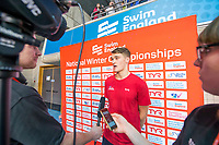 Picture by Allan McKenzie/SWpix.com - 14/12/2017 - Swimming -Swim England Winter Champs - Ponds Forge International Sports Centre - Sheffield, England - James Wilby is interviewed.