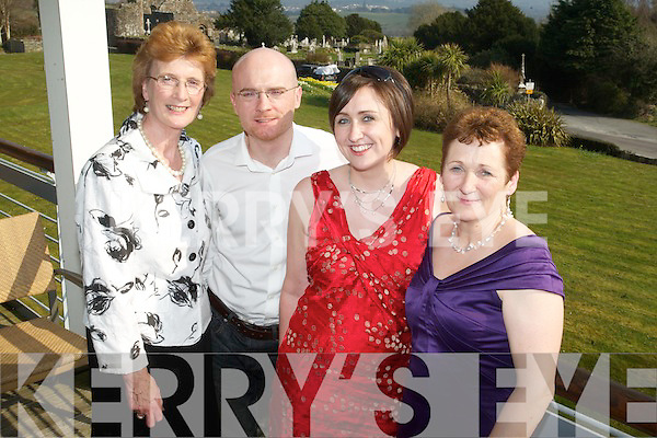 Anne, Shane and Maria Diffily and Peggy Hayes at the Kerry Fashion Weekend Fashion Awards Lunch at the Aghadoe Heights Hotel, Killarney on Sunday.
