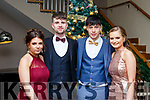 Attending the CBS Debs in the Ballyroe Hotel on Friday last, l to r, Zofia Chac (Tralee), Eamonn Rohan (Kilflynn), Tadgh Brick (Ballymac) and Ciara Boyde (Tralee).